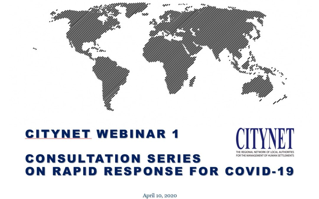 CityNet Webinar I — Consultation Series on rapid responses for COVID-19