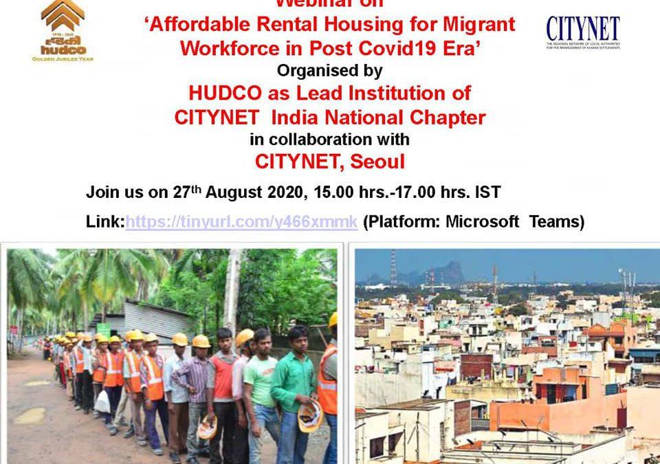 CityNet India webinar on rental housing conducted