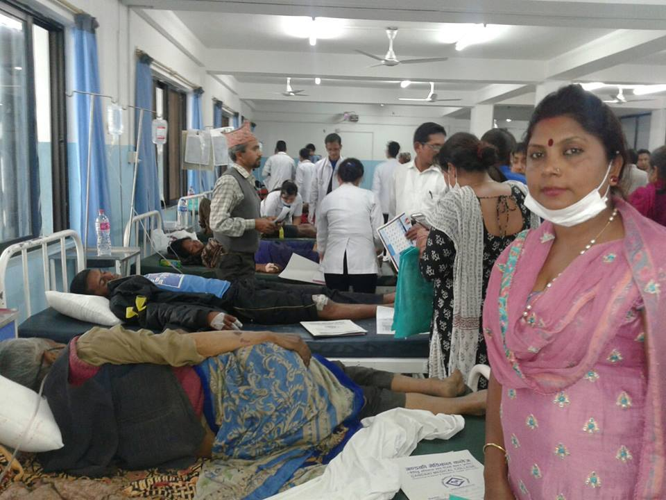 people of barpark in Pokhara Gandaki hospital